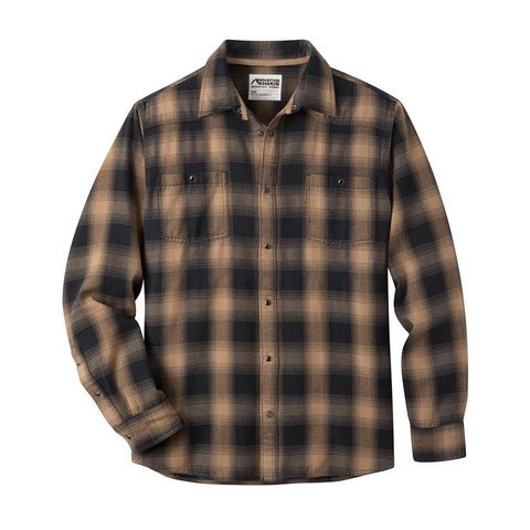 Men's Mountain Khaki Saloon Flannel Shirt - Tobacco