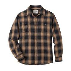 Men's Mountain Khaki Saloon Flannel Shirt - Tobacco