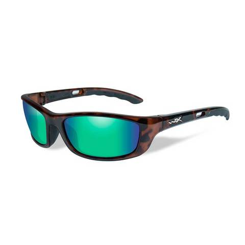Wiley X P-17GM Pol Emerald Green Lens/Gloss Demi Frame