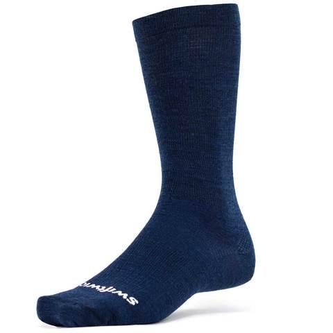 Swiftwick Pursuit Business Eight Crew Socks - Navy