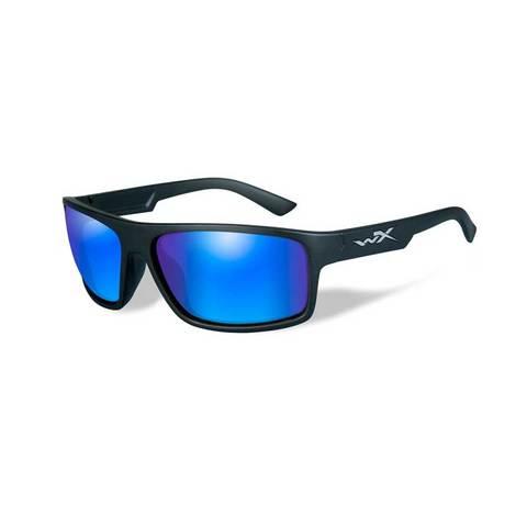 Wiley X Peak Polarized Sunglasses - Blue Mirror Lens/Matte Black Frame