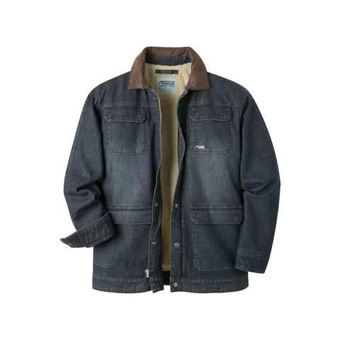 Mountain Khaki Men's Ranch Shearling Jacket - Dark Denim
