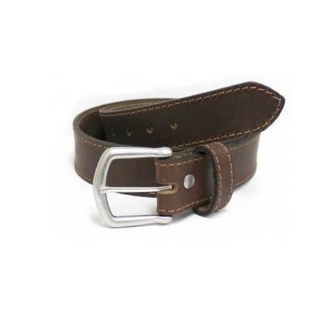 Bison Designs 38mm Durango Corded Leather Belt - Crazy Horse Brown