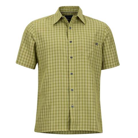 Marmot Men's Eldridge SS Shirt -Wheatgrass