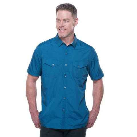 Kuhl Men's Stealth SS Shirt - Lake Blue