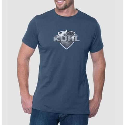 Kuhl Born in the Mountains Klassik Fit Tee -Tall - Pirate Blue