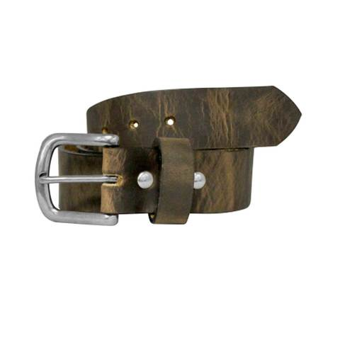 Bison Designs 38mm Rawhide Leather Belt - Silver Buckle