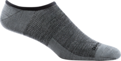 Darn Tough Topless No-Show Hidden Light Sock - Gray