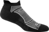Darn Tough Tab No Show Light Cushion Socks - Black/Gray