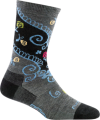 Darn Tough Twisted Garden Crew Light Women's Socks - Black