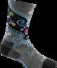 Darn Tough Twisted Garden Crew Light Women's Socks - Black