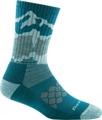 Darn Tough Three Peaks Micro Crew Light Cushion Women's Socks - Teal