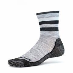 Swiftwick Pursuit Hike Four Ultra-Light Cushion - Heather Black