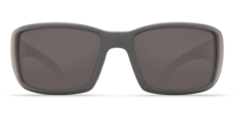 Costa Blackfin Matte Gray 580P Sunglasses - Polarized Blue Mirror