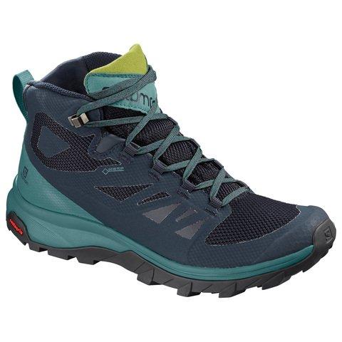Salomon OUTline MID GTX Womens Boots - Navy Blazer-Hydro