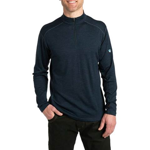 Kuhl Men's Skar 1/4 Zip Long Sleeve Shirt - Mutiny Blue