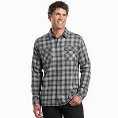 Kuhl Men's Dillingr Long Sleeve Shirt -Dark Stone