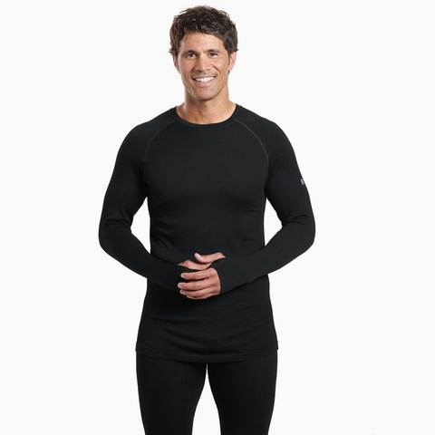 Kuhl Kondor Krew Neck Merino Thermal  Top - Black